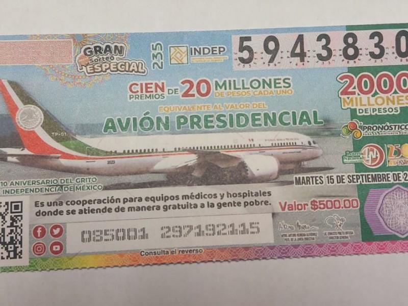 Hospital de Sinaloa gana premio de rifa avión presidencial