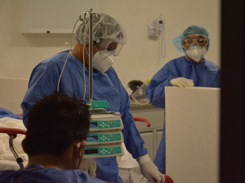 Hospitales COVID en un 10 por ciento de ocupación