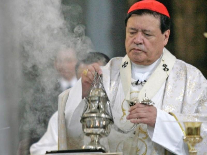 Hospitalizan por Covid-19 al Cardenal Norberto Rivera Carrera