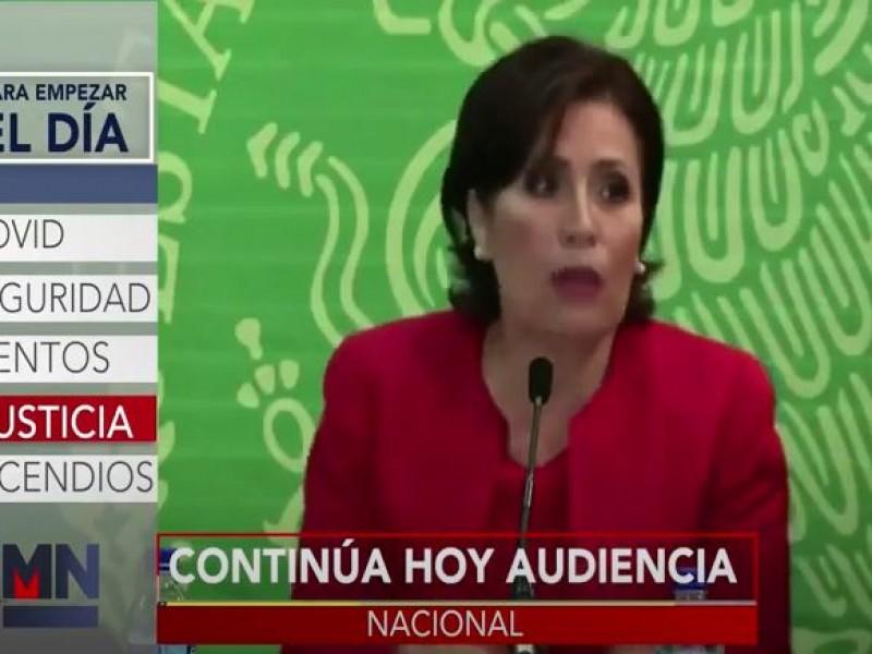 Hoy continúa la audiencia en contra de Rosario Robles