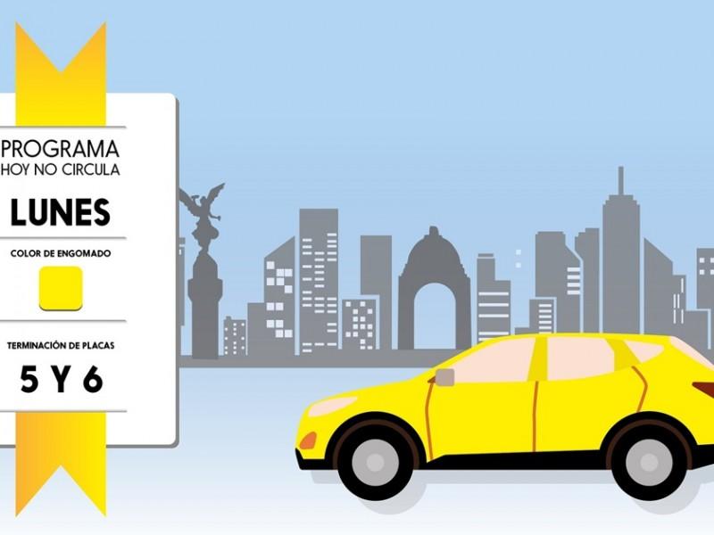Hoy no circulan vehículos con engomado amarillo