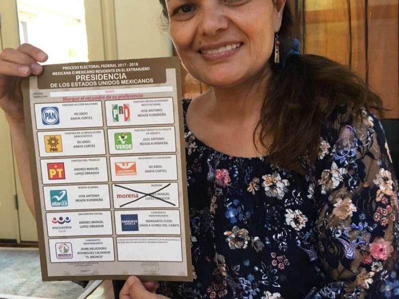 Hubo récord de mexicanos votando en el extranjero