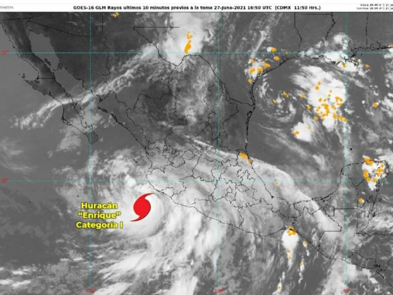 Huracán 'Enrique' llegará a Jalisco este domingo: Conagua