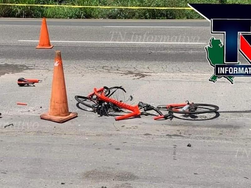 Identifican a ciclista atropellado en Libramiento Tepic