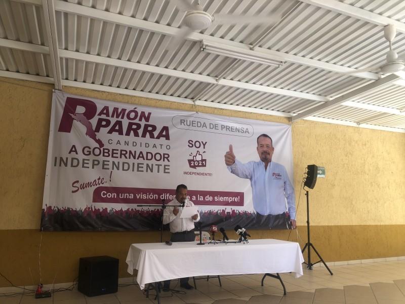 IEE reconoce candidatura independiente de Ramón Parra