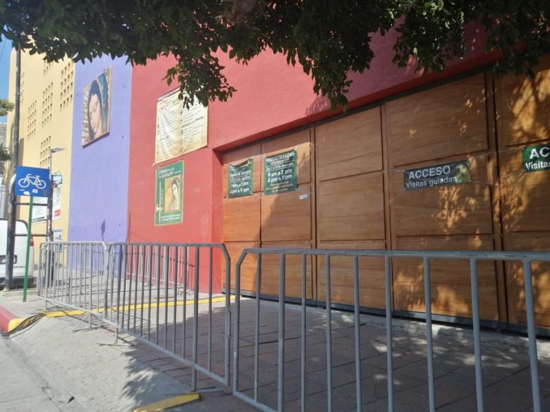 Iglesia de Guadalupe cierra puertas para evitar aglomeraciones