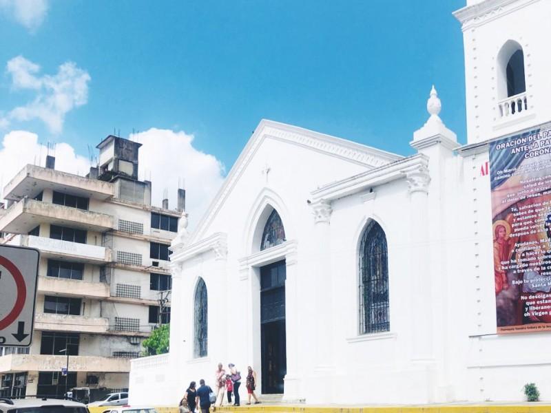 Iglesias en Tuxpan refuerzan medidas de prevención por pandemia