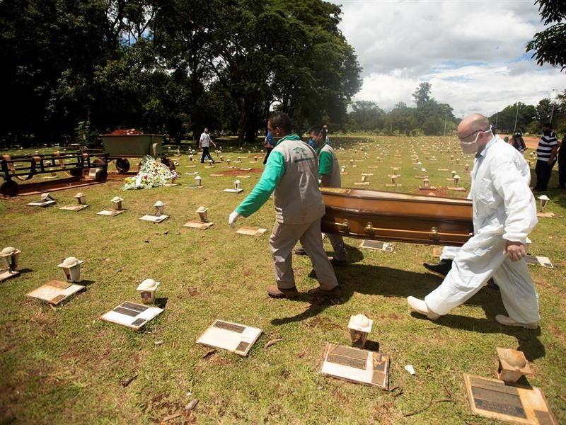 Imparables las muertes por Covid-19 en Brasil