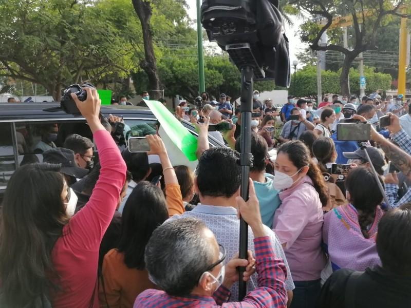 Impiden acceso a AMLO a conferencia mañanera en Chiapas