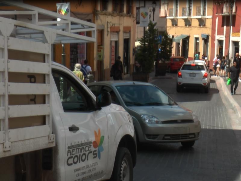 Impiden entrada de vehículos foráneos a zona centro durante Cervantino