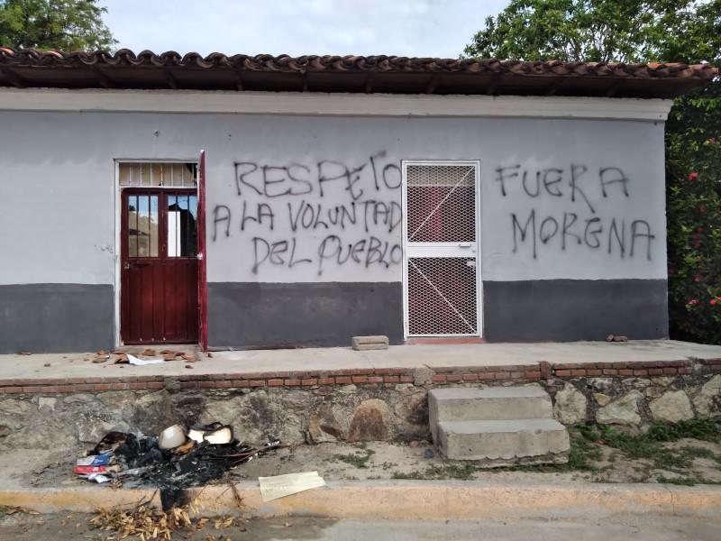 Impiden instalación de casillas en Santiago Laollaga