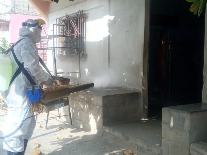 Implementan campaña de sanitización contra Covid-19 en San Blas Atempa
