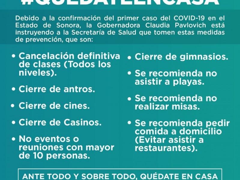 Implementan en Sonora la estrategia #QuèdateEnCasa