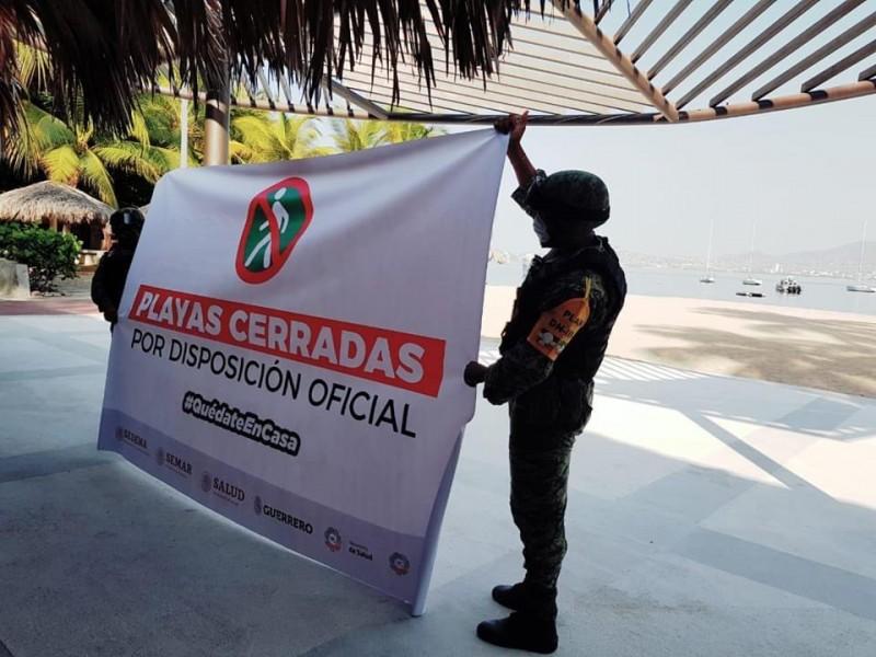 Implementan estrategias para que turistas no visiten playas de Guerrero