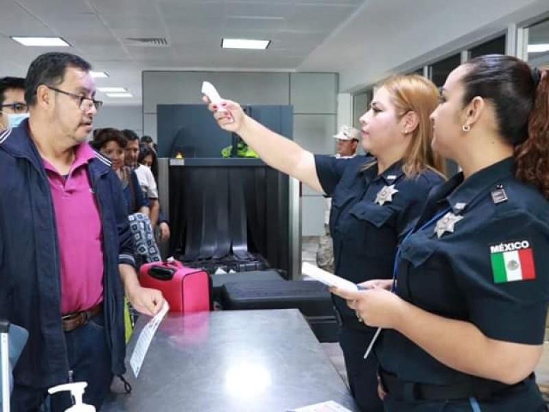 Implementan filtro sanitario en aeropuerto de BCS
