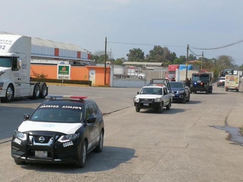 Implementan operativo de seguridad en Suchiate