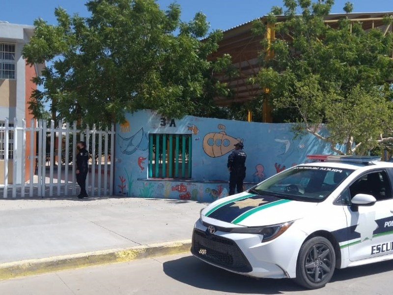 """Implementan operativo """"Escuela Segura"""" para cuidar los planteles educativos"""