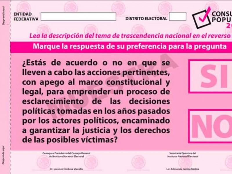 Imprimen 3 millones de papeletas para consulta popular en Michoacán
