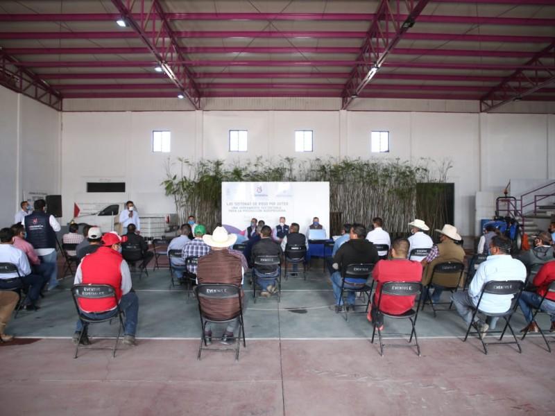 Impulsa SEDEA la tecnificación de riego por goteo en Pedro Escobedo