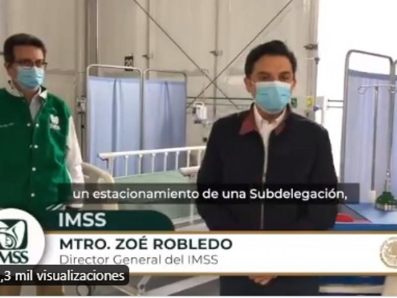 IMSS habilitará hospital para pacientes Covid-19 en estacionamiento