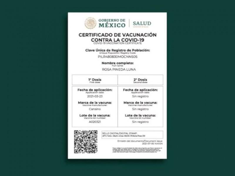 IMSS  impulsa certificado de vacunación anticovid-19