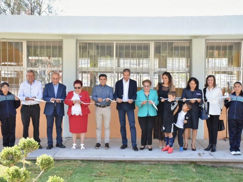 Inauguran aula realizada con inversión ciudadana en Corregidora