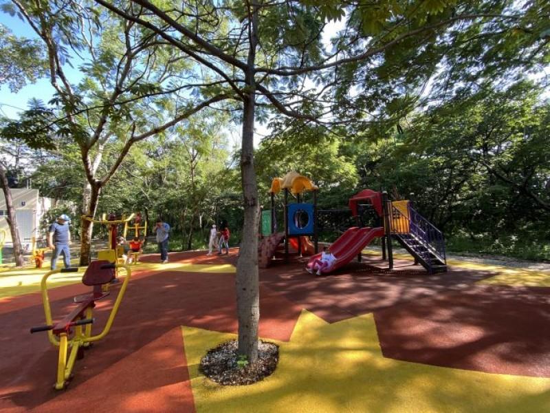 Inauguran autoridades espacios recreativos en Parque Fundamat