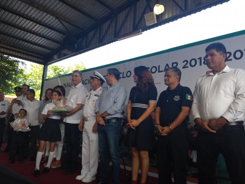 Inauguran ciclo escolar 2018-2019 en Ahome