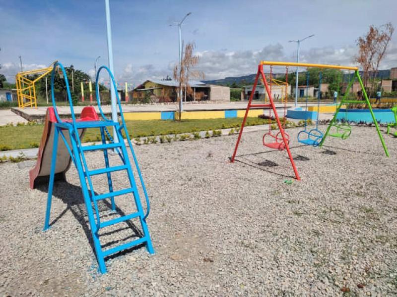 Inauguran en Suchiapa espacios recreativos en beneficio de la población
