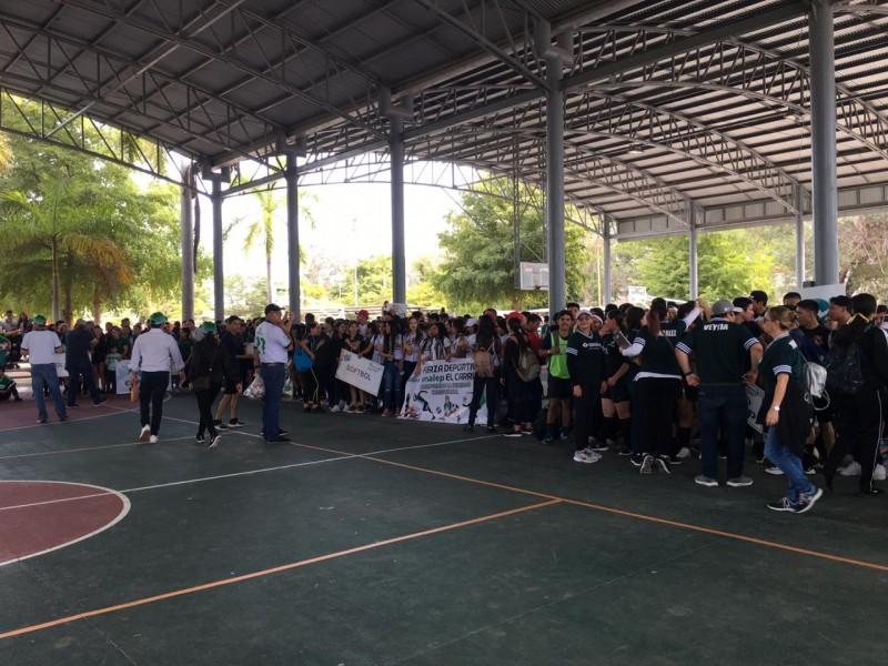 Inauguran encuentro deportivo Conalep