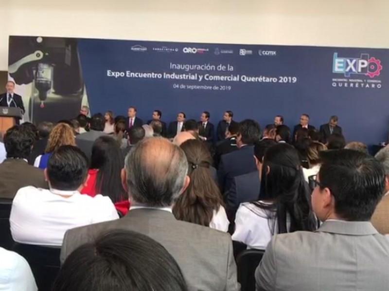 Inauguran expo encuentro industrial y comercial Querétaro 2019