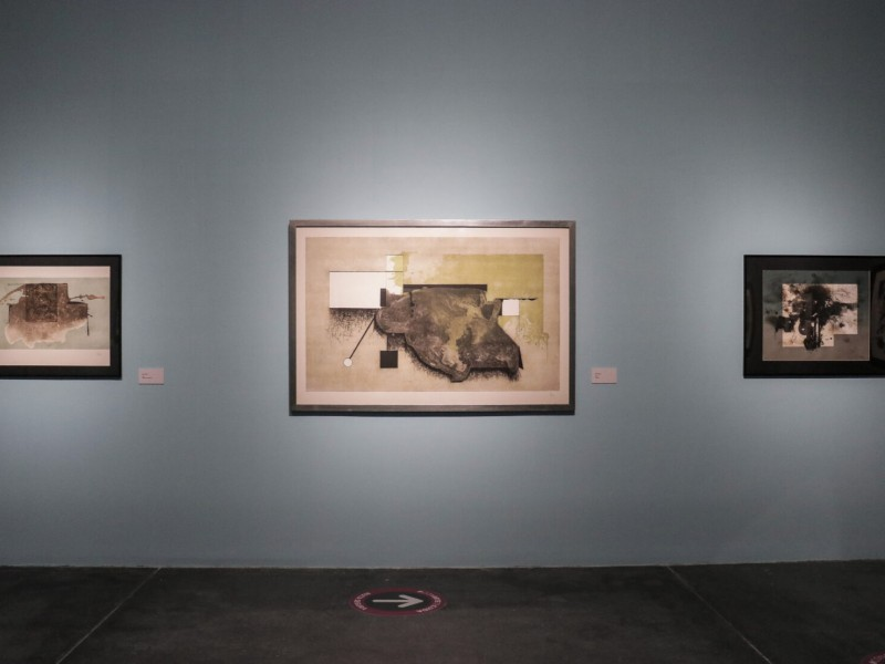 Inauguran exposición de Manuel Felguérez en Conarte