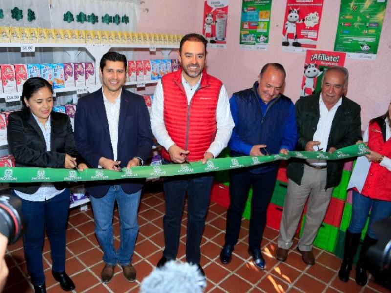 Inauguran lecherías Liconsa en Zacatecas