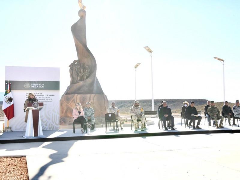 Inauguran memorial en recuerdo a las víctimas de Bavispe