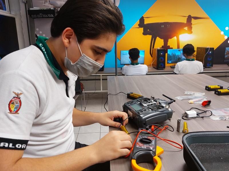 INAUGURAN NUEVO LABORATORIO DE DRONES EN CONALEP II, CULIACÁN
