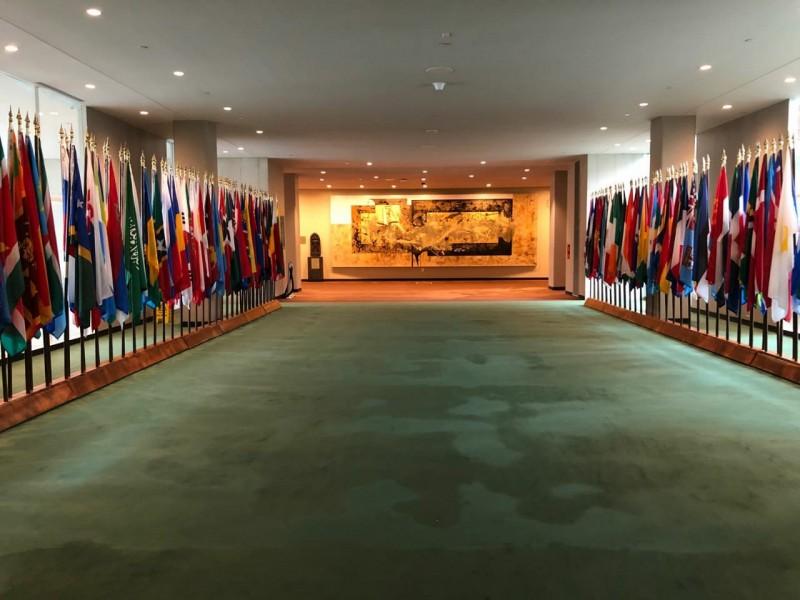 Inauguran obra del Manuel Felguérez en la ONU