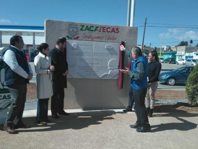 Inauguran vialidad avenida plateros en Fresnillo