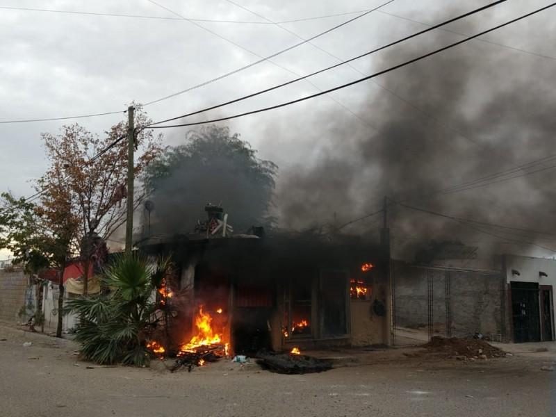 Incendian vivienda en La Caridad