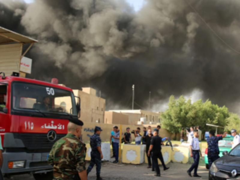 Incendio destruye boletas electorales de Irak