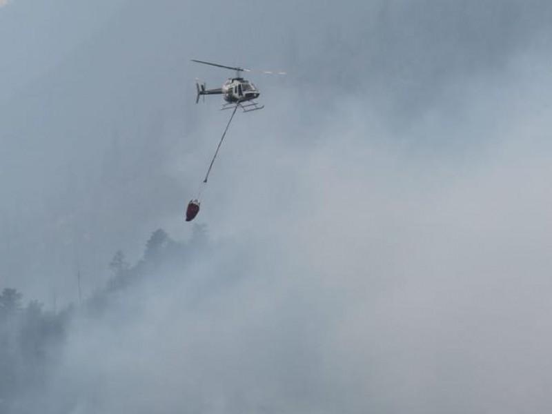 Incendio en Arteaga ya está controlado al 75%