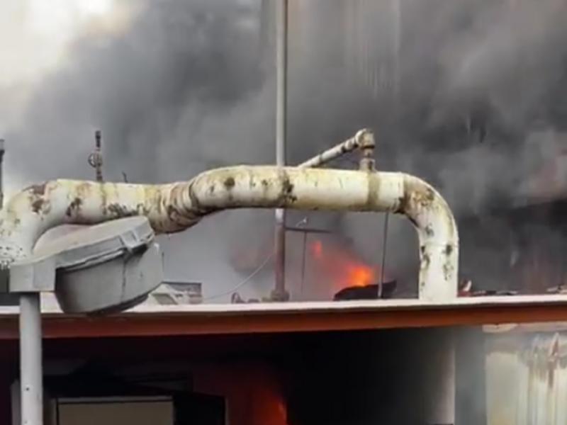 Incendio en caldera CB-1 de la refinería ADJ