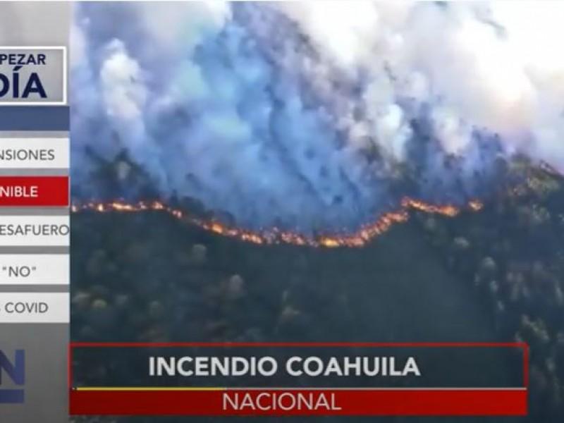 Incendio en Coahuila acaba con 2 mil hectáreas