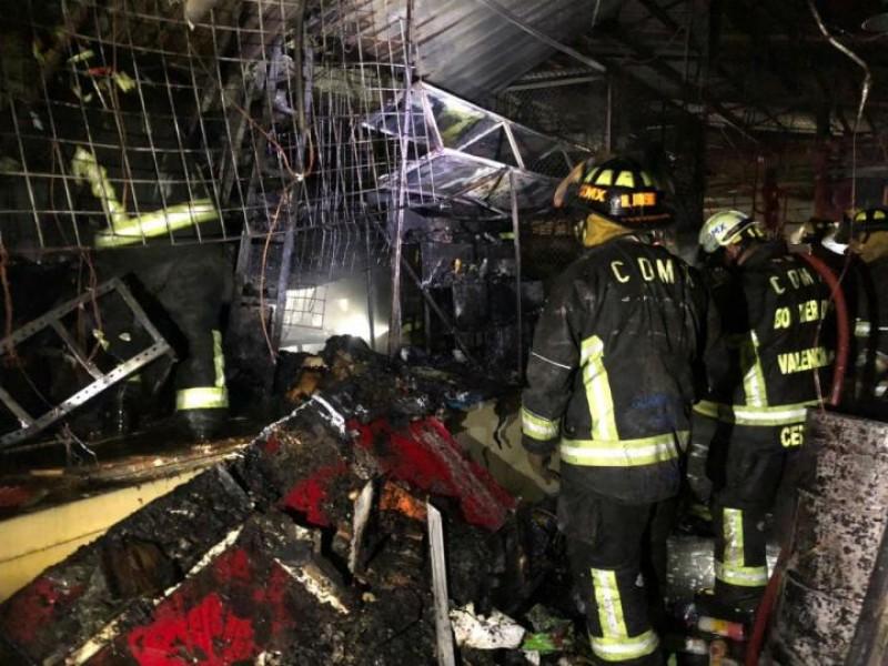 Incendio en el Mercado Morelos de CDMX