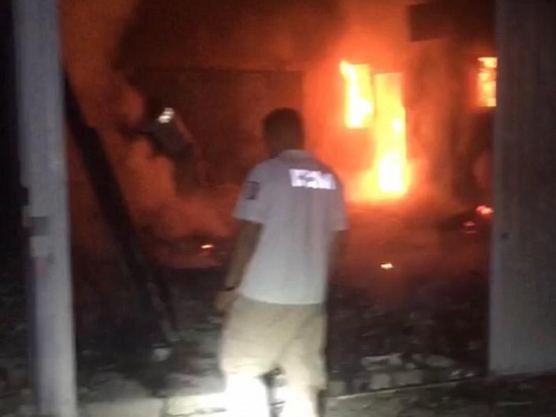 Incendio en estación migratoria de Tapanatepec