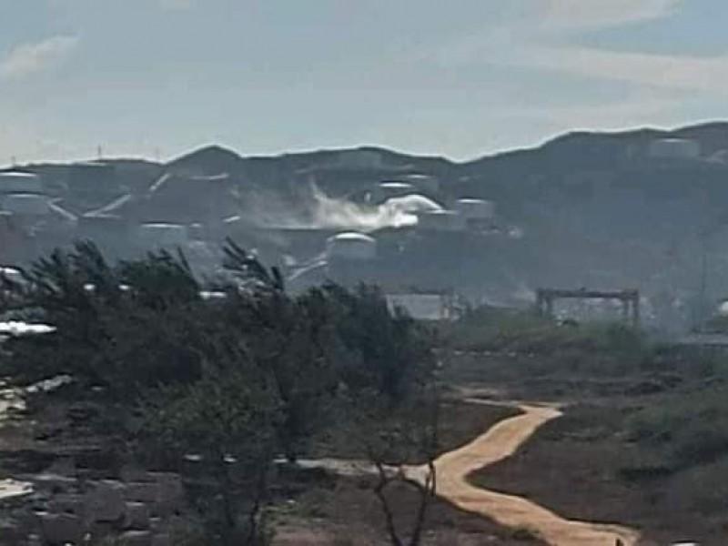 Incendio en zona de tanques Terminal Maritima
