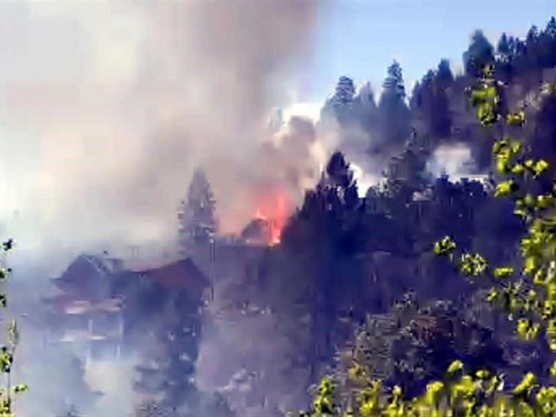 Incendio forestal en Monterreal ya está controlado al 70%