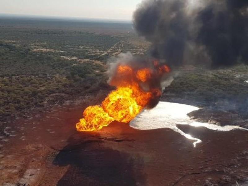 Incendio tras explosión en gasoducto de China, NL