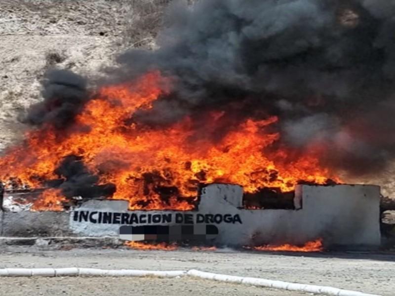 Incineran 700 kilos de droga en Edo. México