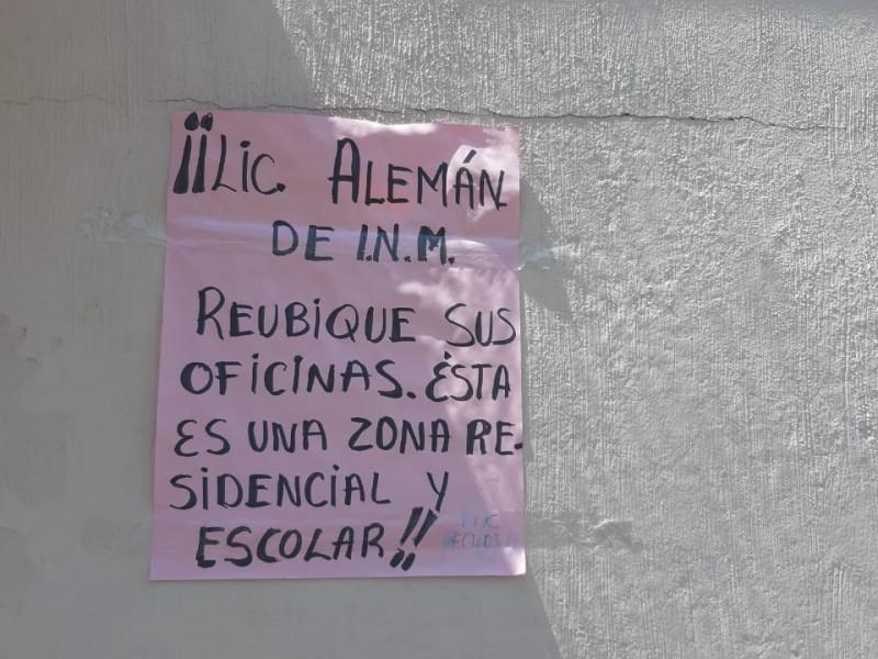 Inconforma a vecinos instalación de oficinas del INMI