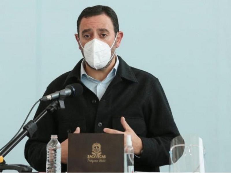 Inconforma a gobernador de Zacatecas centralización federal en vacunación COVID